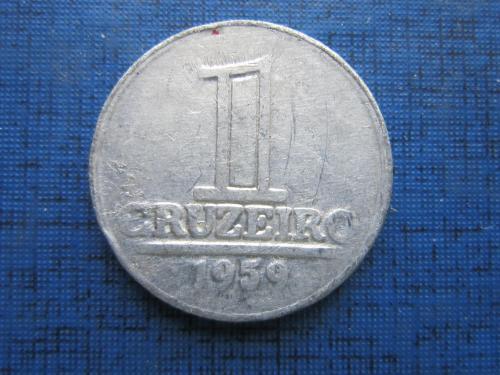 Монета 1 крузейро Бразилия 1959