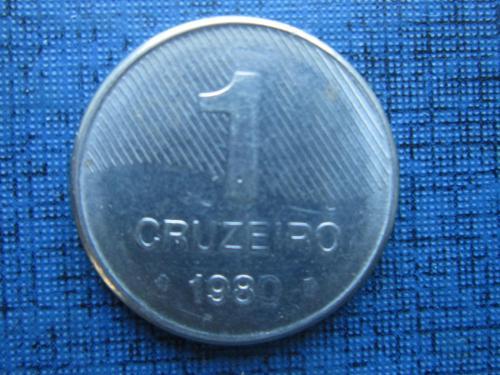 Монета 1 крузейро бразилия 1980 сахарный тростник