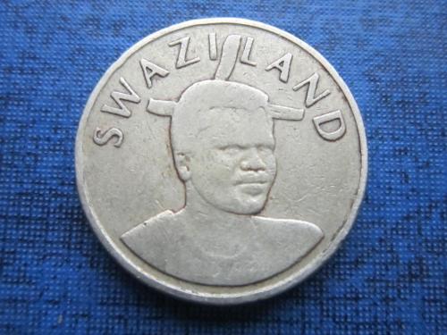 монета 1 лилангели Свазиленд 1996