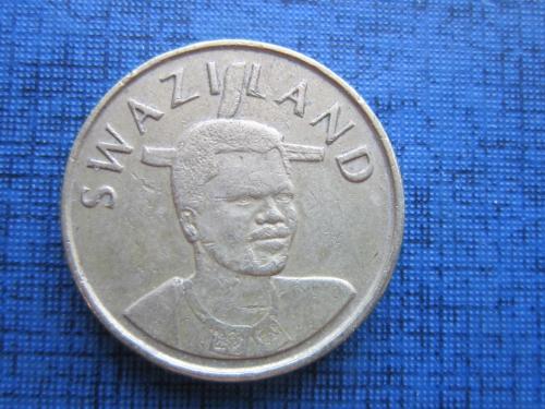 Монета 1 лилангели Свзиленд 2003