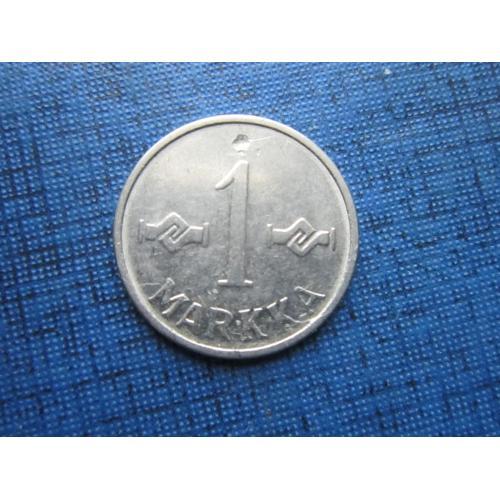 Монета 1 марка Финляндия 1955 железо маленькая