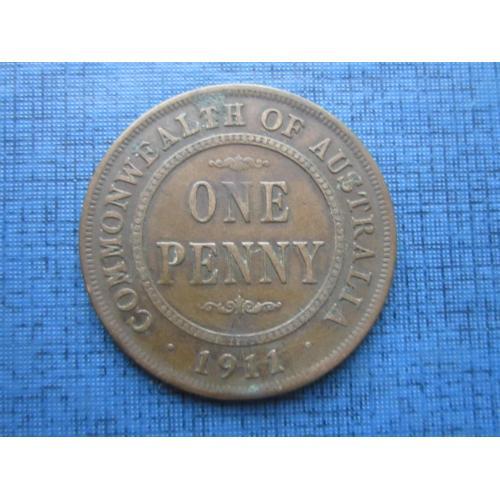 Монета 1 пенни Австралия 1911