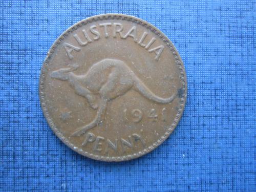 Монета 1 пенни Австралия 1941 фауна кенгуру