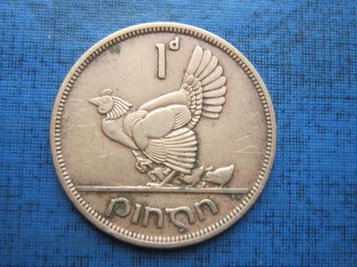 Монета 1 пенни Ирландия 1946 фауна курица