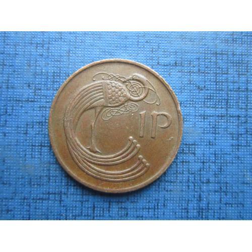 Монета 1 пенни Ирландия 1980 фауна птица
