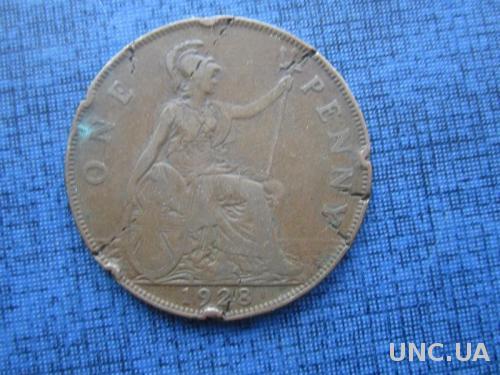 монета 1 пенни Великобритания 1928