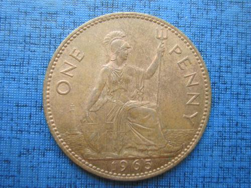 Монета 1 пенни Великобритания 1965