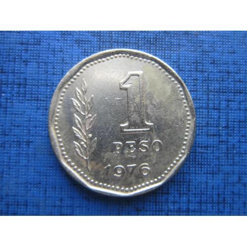 Монета 1 песо Аргентина 1976