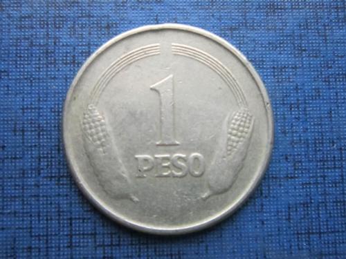 Монета 1 песо Колумбия 1978