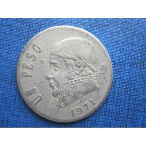 Монета 1 песо Мексика 1971