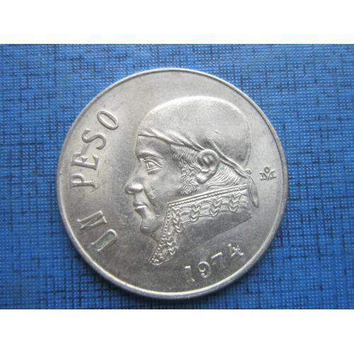 Монета 1 песо Мексика 1974