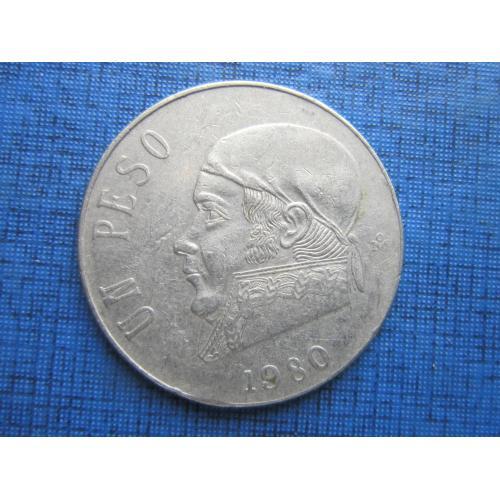 Монета 1 песо Мексика 1980