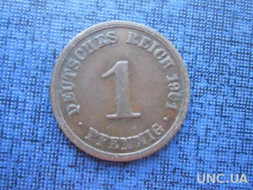 монета 1 пфенниг Германия 1901 А