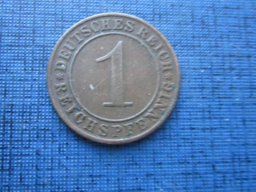 Монета 1 пфенниг Германия 1934 D Рейх