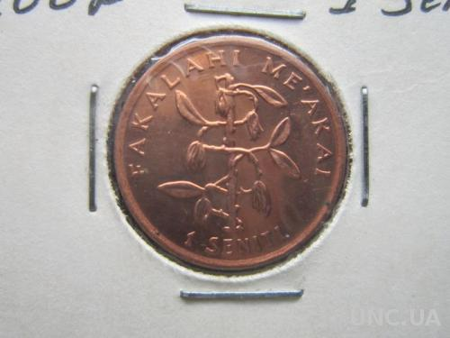 монета 1 сенити Тонга 2002