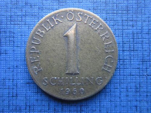 Монета 1 шиллинг Австрия 1960 флора эдельвейс
