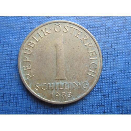 Монета 1 шиллинг Австрия 1983 флора эдельвейс