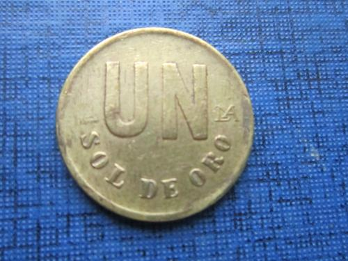 Монета 1 сол де оро Перу 1980 малая