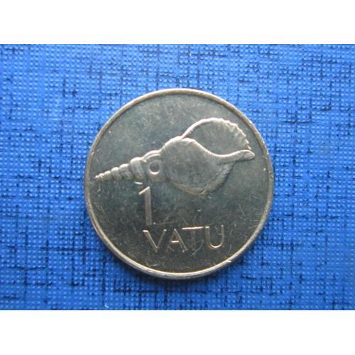 Монета 1 вату Вануату 1999 фауна раковина состояние