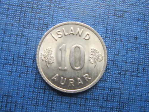 Монета 10 аурар Исландия 1969 состояние