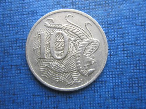 Монета 10 центов Австралия 1983 фауна птица павлин