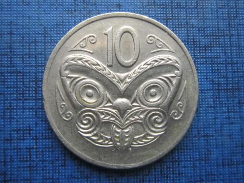 Монета 10 центов Новая Зеландия 1974