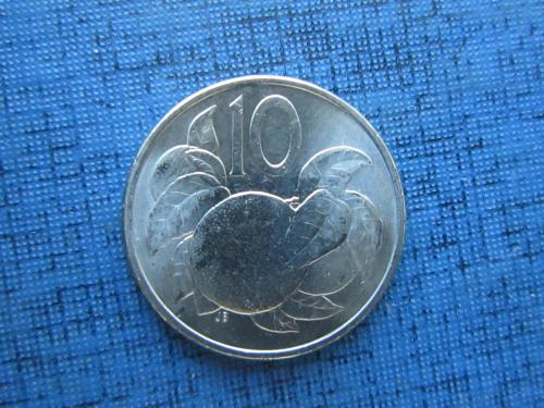 Монета 10 центов Острова Кука Британские 2015 состояние