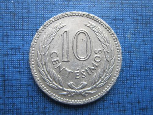 Монета 10 чентезимо Уругвай 1953