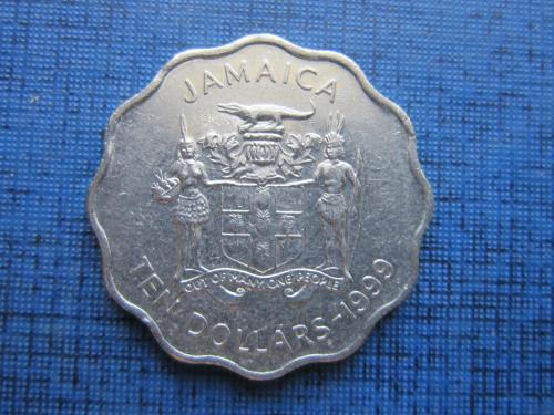 Монета 10 долларов Ямайка 1999