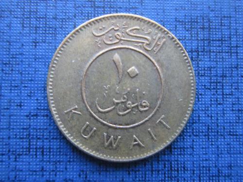 Монета 10 филс Кувейт 2007 корабль парусник