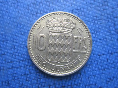 Монета 10 франков Монако 1951