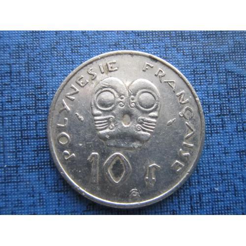 Монета 10 франков Полинезия Французская 1983