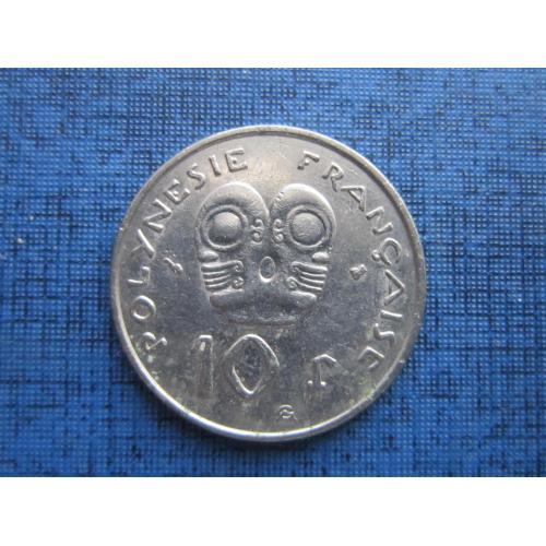 Монета 10 франков Полинезия Французская 1996