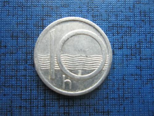 Монета 10 геллеров Чехия 1993