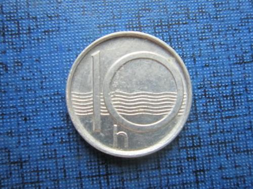 Монета 10 геллеров Чехия 1995