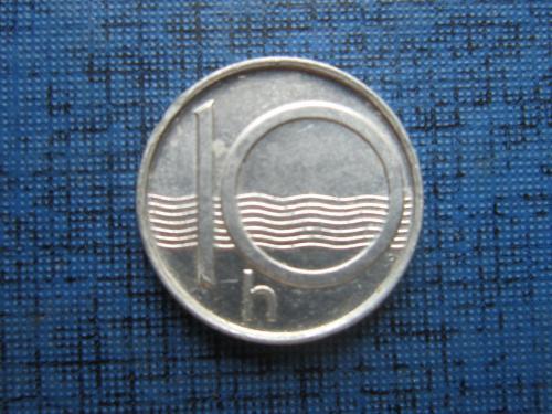 Монета 10 геллеров Чехия 1997