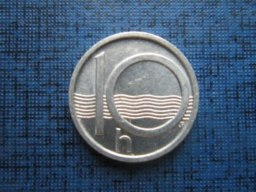 Монета 10 геллеров Чехия 2000