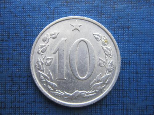 Монета 10 геллеров Чехословакия ЧССР 1962