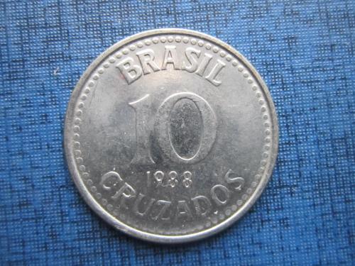 Монета 10 крузадо Бразилия 1988