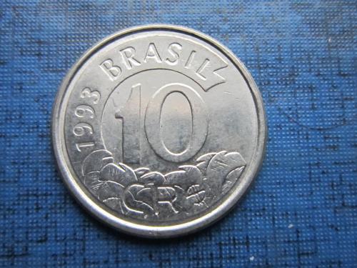 Монета 10 крузейро Бразилия 1993 фауна муравьед состояние