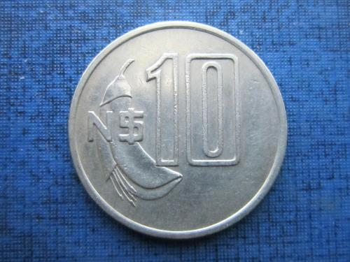 Монета 10 песо Уругвай 1981