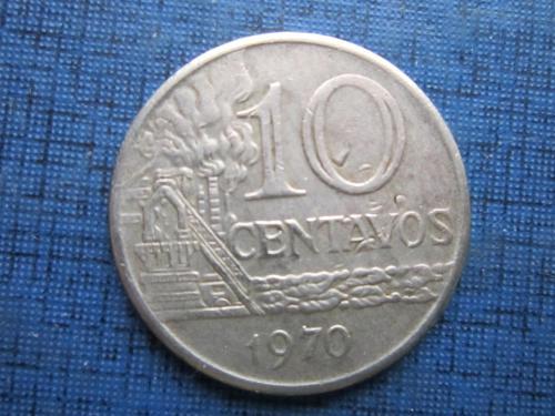 Монета 10 сентаво Бразилия 1970