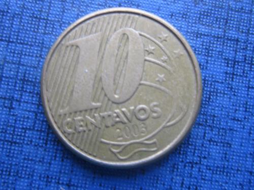 Монета 10 сентаво Бразилия 2003