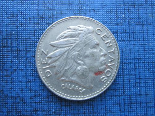 Монета 10 сентаво Колумбия 1966 индеец