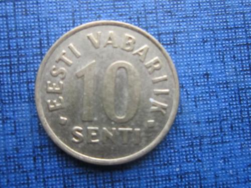Монета 10 сенти Эстония 1992