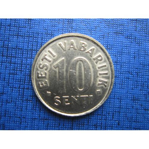 Монета 10 сенти Эстония 1998
