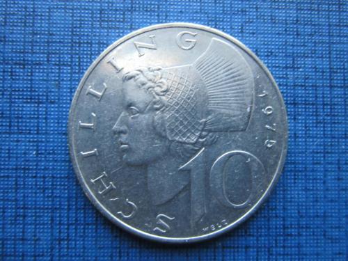 Монета 10 шиллингов Австрия 1975