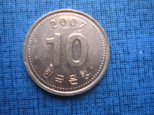 Монета 10 вона Корея 2007