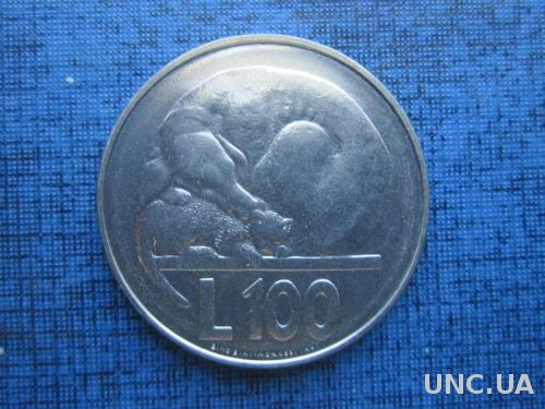 монета 100 лир Сан Марино 1975 фауна собака кошка