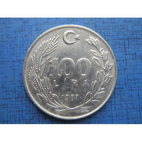 Монета 100 лир Турция 1987 большая